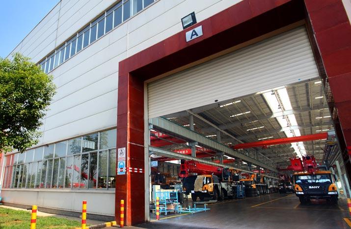 三一重工:湘联厂房门,能承受十级大风的风压