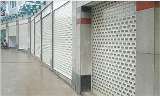 浏阳步行街商铺卷帘门