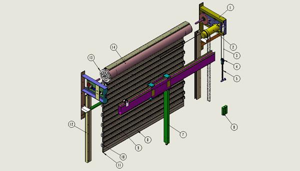 控制杆工业设计手绘